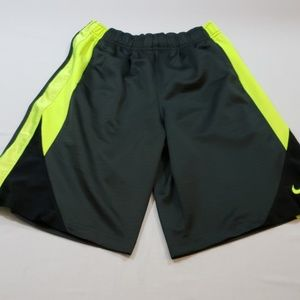 NIKE ATHLETIC SHORTS NEON YELLOW SIDE STRIPES